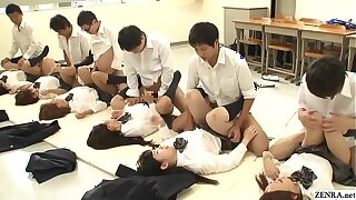 JAV synchronized schoolgirl reverend sexual connection led off out of one's mind school