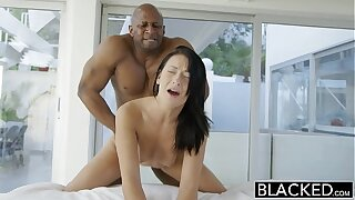 BLACKED Teen handsomeness tries Interracial anal making love