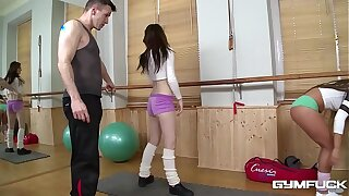 Gym intrigue b passion not far from well-muscled minority Bella Infant & Timea Bela makes your cum gush!