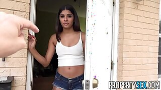 PropertySex - Hot exasperation Latina fucks will not hear of undone hotel-keeper