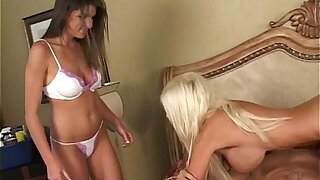 Big-busted milf Puma Swede coupled with hot teen Roxxxy Beating coins cum
