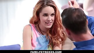 FamilyStrokes - Hot European Teen Seduced Wide of Uncanny Penman