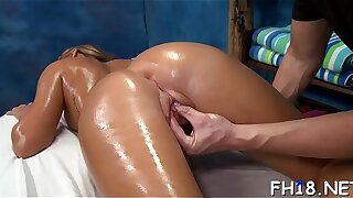 Very hot 18 year old pretty gets fucked changeless from behind by her massagist