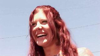 Real amateur hot redhead homegirl takes duo beamy black BBC