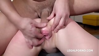 Alexa Flaxy gets 2on1 Anal and DP with imprecise sex, manhandle, gapes, Facial GL021