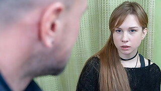 DEBT4k. Red-haired miss allows collector not far from screw her not far from for