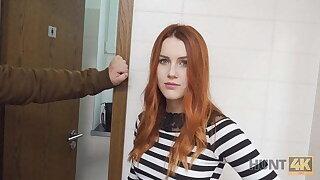 VIP4K. Hunter fucks gorgeous redhead nigh a public restroom