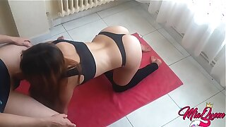 Sexy Fit Stepsister Caught doing Yoga gets fucked coupled with creampied