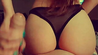 Beauty masturbates and shows her ass to a friend