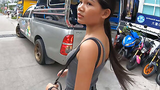Real amateur Thai teen cutie fucked after lunch overwrought temp BF