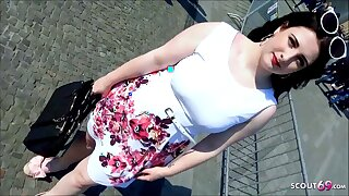 German BBW Teen 18 Picked up and Fucked connected with public beyond Berlin Street