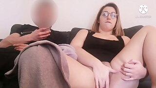 I stroke my pussy next around my brother's friend... I like this